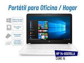 laptop hp bs015la core i5 intel/1000 gb/8 gb 14  nuevas