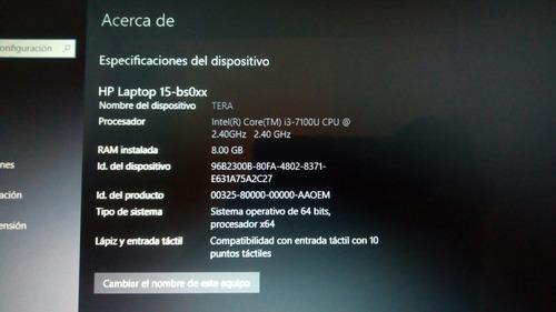 laptop hp core i3 7ma generación