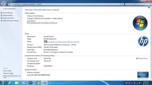 laptop hp g42 pavilion (precio de remate por detalle)