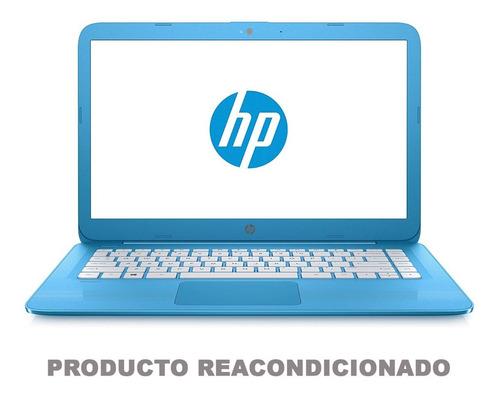 laptop hp intel celeron n3060 dual core 4gb ssd 32gb pantalla 14 wifi usb windows 10 azul 14-cb011wm