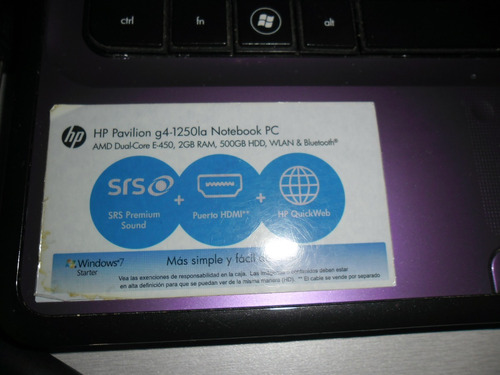 laptop hp pavilion g4-1250la cambio por tablet