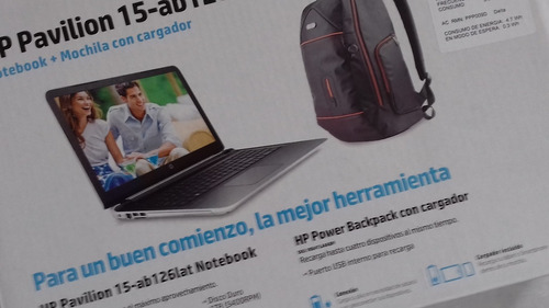laptop hp pavillion 15-ab126lat d.d.1tb ram 16gb amd10cor r6