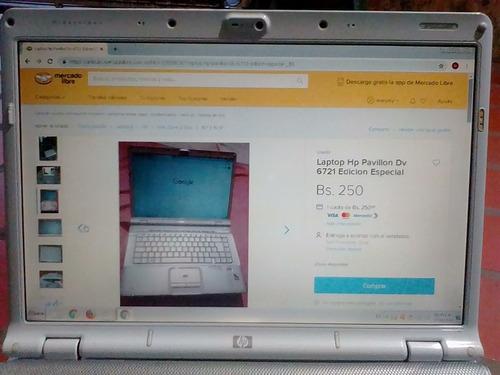 laptop hp pavillon dv 6721 edicion especial