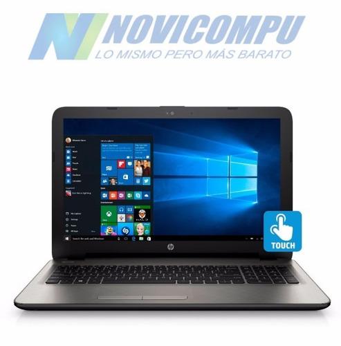 laptop hp touch + 8gb + 1tb + video dedicado r5 + w10