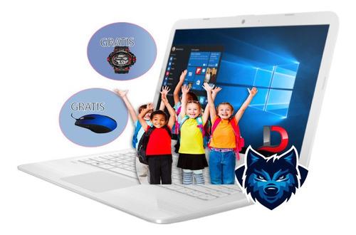 laptop intel dual+500gbs+4gbs ram+w10+wifi+web cam i3 025