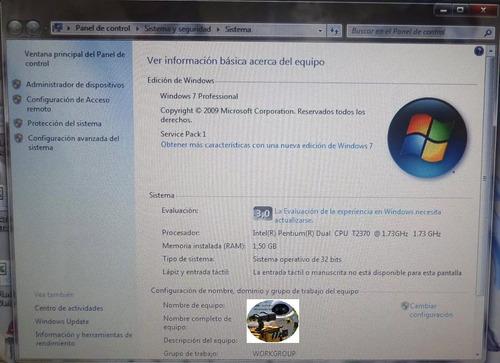 laptop lenovo 3000 n200 con bat y car, so 30dias de garantia