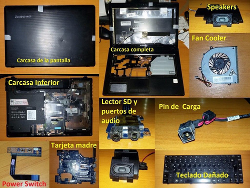laptop lenovo g470, g475, g480 repuestos
