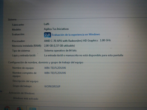 laptop lenovo g485 usada impecable