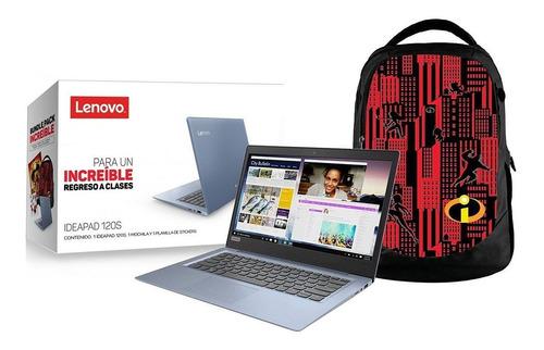 laptop lenovo ideapad 120s celeron n3350 2gb 32gb + mochila