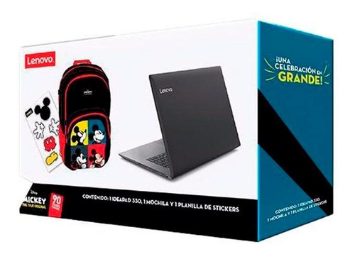 laptop lenovo ideapad 330-14ast a4-9125 4gb 500gb con mochila
