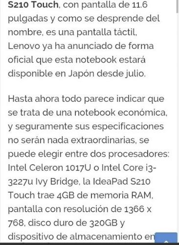 laptop lenovo s210 touch nueva
