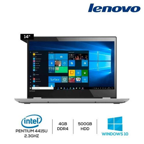laptop lenovo yoga 520-14ikb, 14' 4gb ddr4, 500gb, win 10