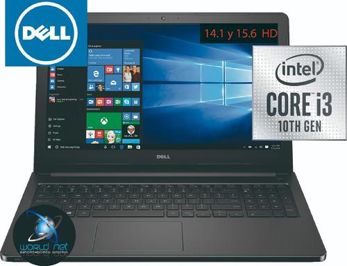laptop portátil dell core i3, 10th gen  4gb - 125 solido