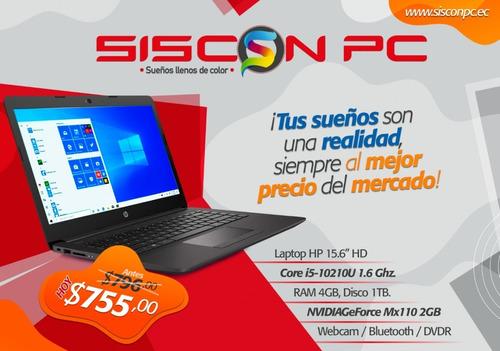 laptop portatil hp i3 8 gen 240gb m2 ssd + 1tb hdd 8gb ram