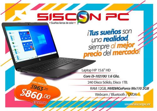laptop portatil hp i5 10 gen 240gb m2 ssd + 1tb hdd 8gb ram