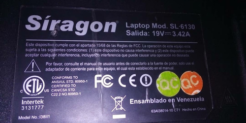 laptop siragon sl-6130