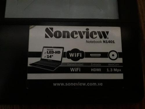 laptop soneview n1401 excelente condicion 320gb hd 2gb ram