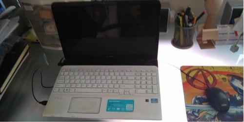 laptop sony vaio blanca sve151j13l funciona perfecto