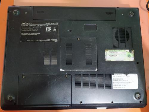 laptop sony vaio pcg-7q1p vgn-fj330f 2gb ram win 7 wifi