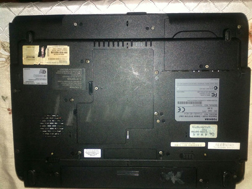 laptop toshiba satélite a 105 s 40 34 t/m dañada (leer todo)