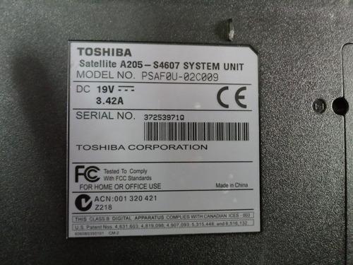 laptop toshiba satellite a-205-s4607 para repuestos