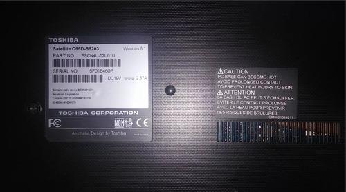 laptop toshiba satellite c55d  - repuesto