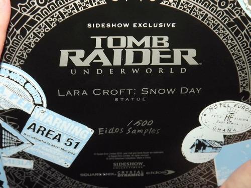 lara croft ex  snow day sideshow comiquette eidos premium