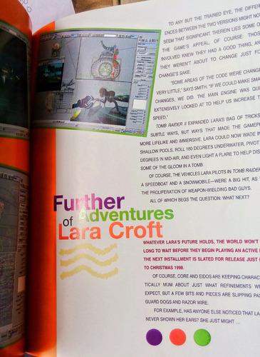 lara´s book libro sobre lara croft  tomb raider de colección