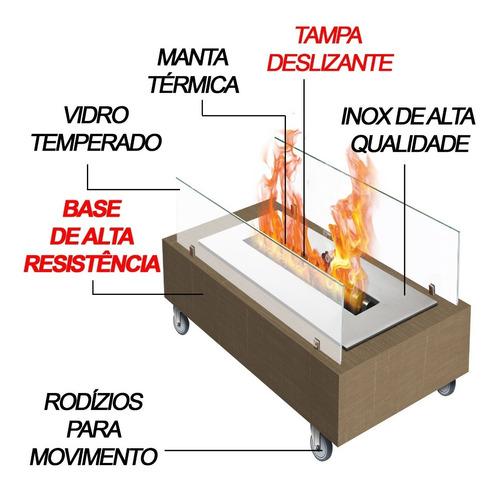 lareira ecológica a alcool ou etanol portatil queimador