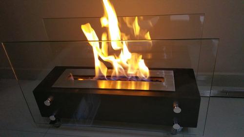 lareira ecológica álcool etanol 70cm queimador inox 50cm