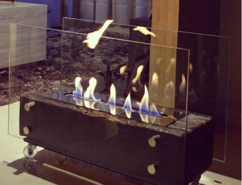 lareira ecológica álcool etanol queimador inox 50cm + brinde