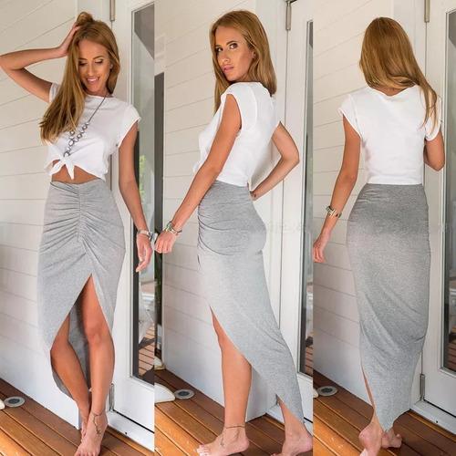larga cruzada falda
