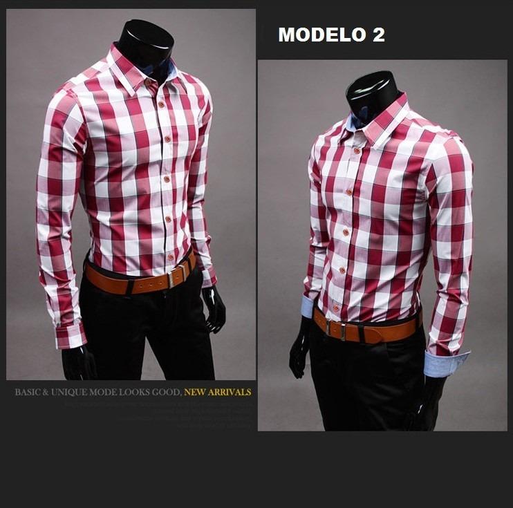 Camisa a cuadros a cuadros de manga larga camisas para