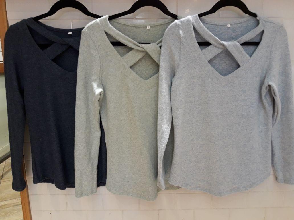 d5b1aaaeea361 Cargando zoom... blusa manga larga con escote cruzado de mujer invierno 2018