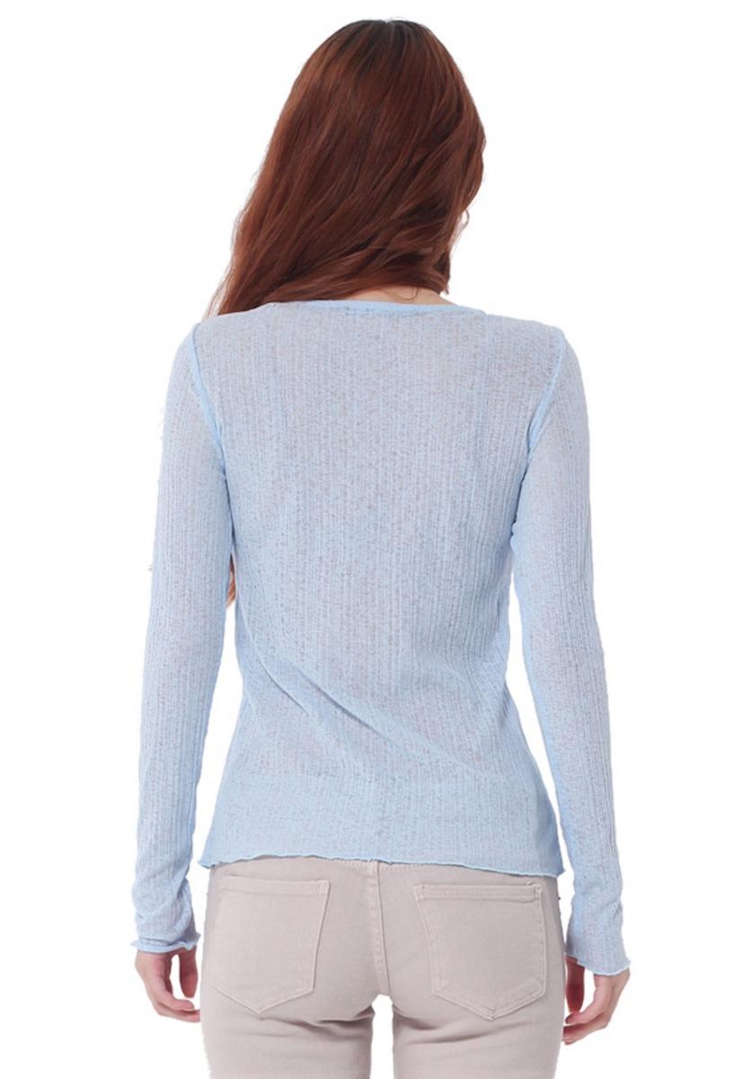 c7f9fad50936f Cargando zoom... camiseta manga larga de mujer aishop af173-1102-552 azul