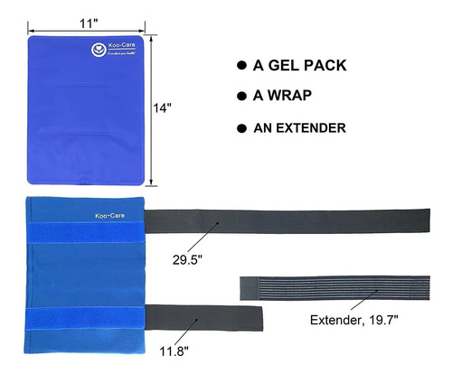 large flexible gel ice pack  wrap with elastic straps ...