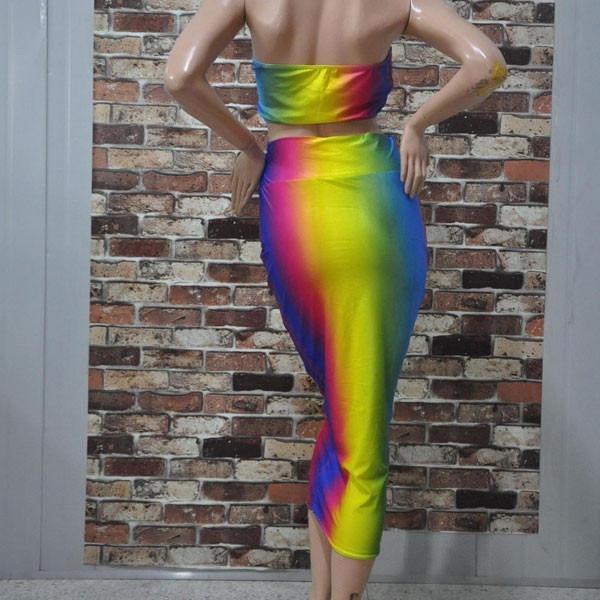 d77e926dda vestido largo crop top casual moda juvenil estampado · vestido largo casual  · largo casual vestido