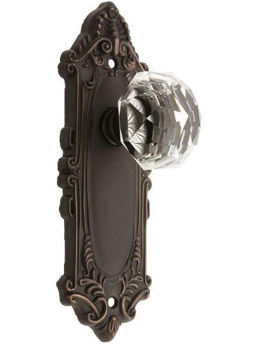 largo diseño puerta set con diamante cristal perillas doble
