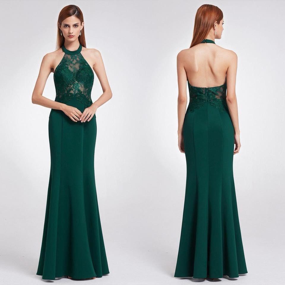 Vestidos de gala largos verde