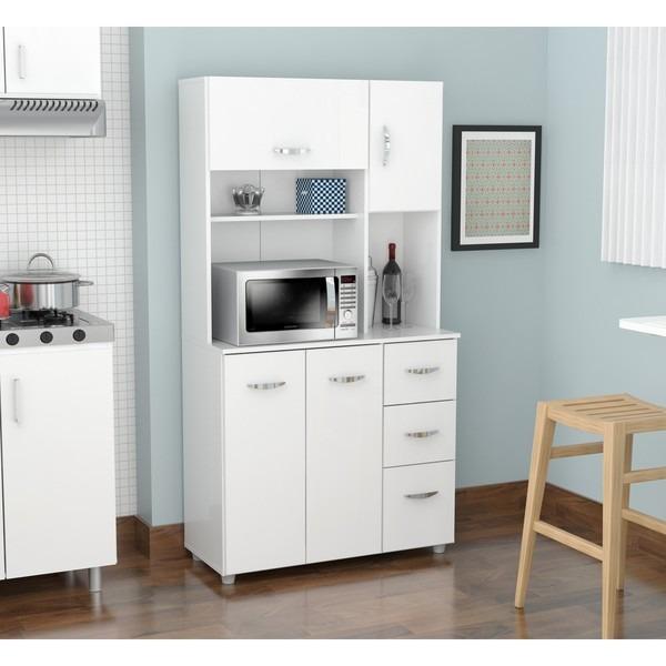 Laricina White Kitchen Storage Gabinete 26 254 98 En