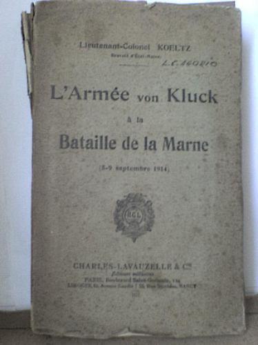 l'armée von kluck á la bataille de la marne