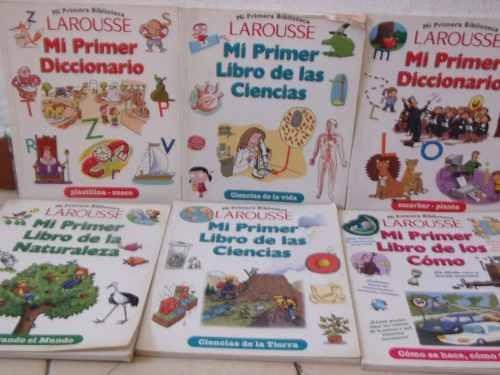 larousse. mi primer diccionario de los cómo,10 tomos