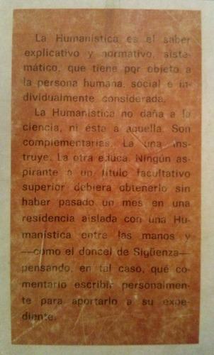 larraz, jose - humanistica (para la sociedad atea, cientific