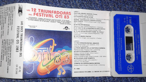 las 12 trinfadoras del festival oti 83 cassete athie piruli