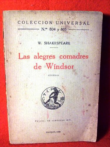 las alegres comadres de windsor william shakespeare año 1928
