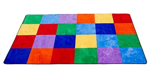 Las Alfombras De Aprendizaje De Colores Alfombra De Cuadricu - Alfombras-colores