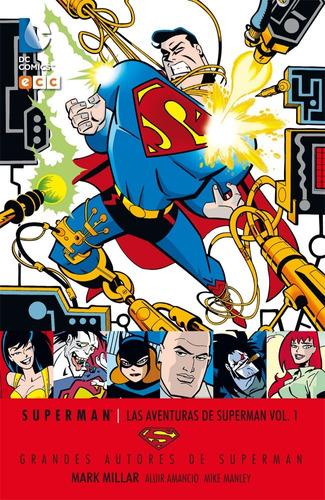 las aventuras de superman 01 - dc ecc comics - robot negro