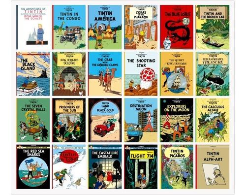 las aventuras de tintín + 29 pdf +  39 episodios serie de tv