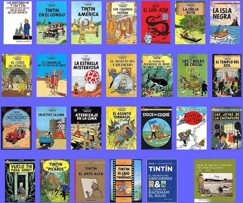 las aventuras de tintin (coleccion completa) pdf (dvd-rom)