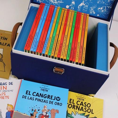 las aventuras de tintin (edición centenario/cofre 24 tomos.)